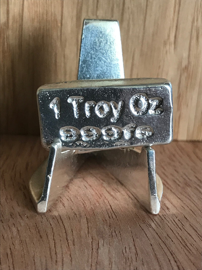 1 Troy Oz Silver Bar Loaf Hand Poured By Pure Pure