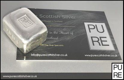 100g Silver Bar Hand Poured Bullion 999fs