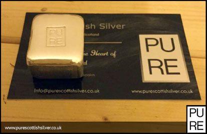 Hand Poured Bullion 100g Silver Bar 999fs