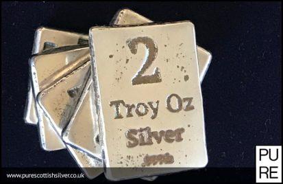 2oz Troy Oz Silver Bar