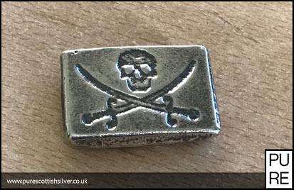 2 oz Silver Pirate Bar