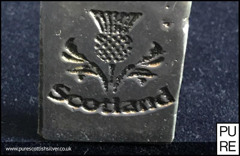 2oz Scotland Thistle Silver Bar Pure Scottish Silver