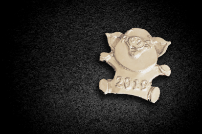 2.1 oz Silver hand poured year of the pig